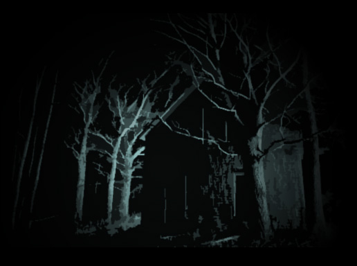 A house deep in the darkened wood...